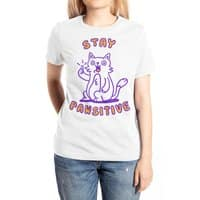Stay pawsitive - womens-extra-soft-tee - small view