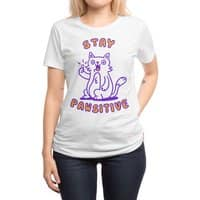 Stay pawsitive - womens-regular-tee - small view