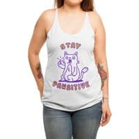Stay pawsitive - womens-triblend-racerback-tank - small view