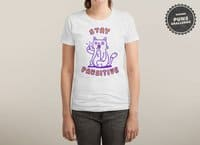 Stay pawsitive - womens-triblend-tee - small view
