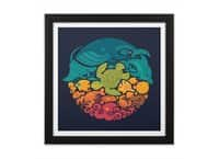 Aquatic Rainbow - black-square-framed-print - small view