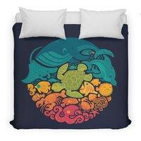 Aquatic Rainbow - duvet-cover - small view