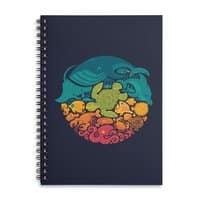 Aquatic Rainbow - spiral-notebook - small view