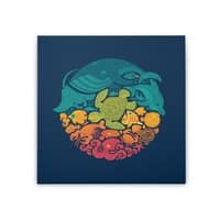 Aquatic Rainbow - square-stretched-canvas - small view