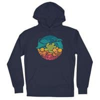 Aquatic Rainbow - unisex-lightweight-pullover-hoody - small view