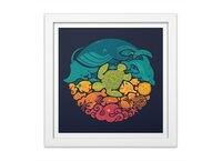 Aquatic Rainbow - white-square-framed-print - small view