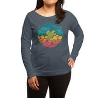 Aquatic Rainbow - womens-long-sleeve-terry-scoop - small view