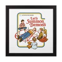 Let's Summon Demons - black-square-framed-print - small view
