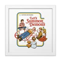 Let's Summon Demons - white-square-framed-print - small view
