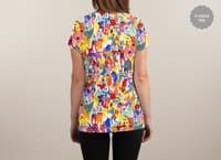 I feel like dancing :) - womens-sublimated-v-neck - small view