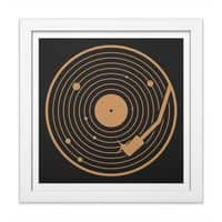 The Vinyl System - white-square-framed-print - small view
