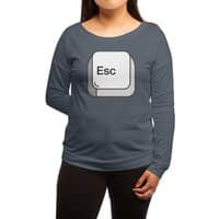 Escape - womens-long-sleeve-terry-scoop - small view