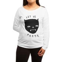 Party Bat - womens-long-sleeve-terry-scoop - small view