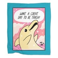 Trash Dolphin - blanket - small view