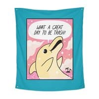 Trash Dolphin - indoor-wall-tapestry-vertical - small view
