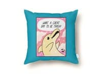 Trash Dolphin - throw-pillow - small view