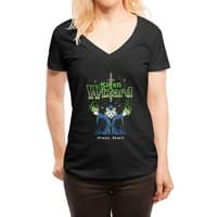 Kitten Wizard - womens-deep-v-neck - small view