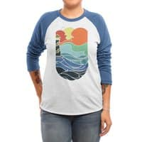 I can see the sea - triblend-34-sleeve-raglan-tee - small view