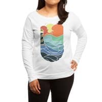 I can see the sea - womens-long-sleeve-terry-scoop - small view