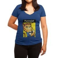 Purrrsist! - womens-deep-v-neck - small view