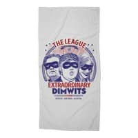 The Extraordinary League of Dimwits - beach-towel - small view