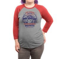 The Extraordinary League of Dimwits - triblend-34-sleeve-raglan-tee - small view