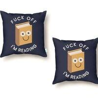 All Booked Up - throw-pillow - small view