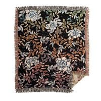 Roses in the jungle - woven-blanket - small view