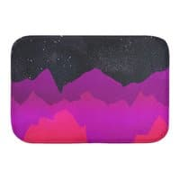 Serene Mountain Scene  - bath-mat - small view