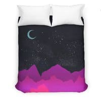 Serene Mountain Scene  - duvet-cover - small view