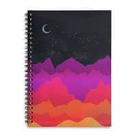 Serene Mountain Scene  - spiral-notebook - small view