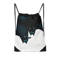 Space Cat Galaxy - drawstring-bag - small view