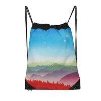 Red morning - drawstring-bag - small view