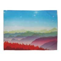 Red morning - rug-landscape - small view
