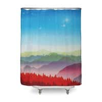 Red morning - shower-curtain - small view