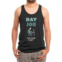 Day Job - mens-triblend-tank - small view