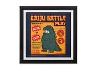 Kaiju Battle Play - black-square-framed-print - small view