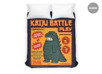 Kaiju Battle Play - duvet-cover - small view