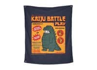 Kaiju Battle Play - indoor-wall-tapestry-vertical - small view