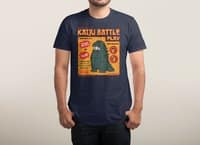 Kaiju Battle Play - mens-triblend-tee - small view