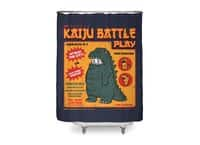 Kaiju Battle Play - shower-curtain - small view