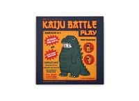 Kaiju Battle Play - square-stretched-canvas - small view