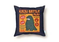 Kaiju Battle Play - throw-pillow - small view