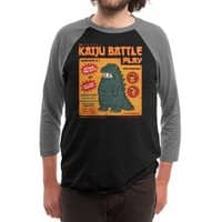 Kaiju Battle Play - triblend-34-sleeve-raglan-tee - small view