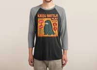 Kaiju Battle Play - triblend-34-sleeve-raglan-tee - small view