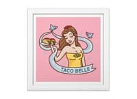 Taco Belle - white-square-framed-print - small view
