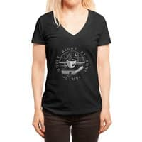 Quiet Night - womens-deep-v-neck - small view