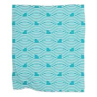 WAVES OF SHARKS - blanket - small view
