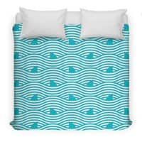 WAVES OF SHARKS - duvet-cover - small view