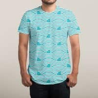 WAVES OF SHARKS - mens-sublimated-triblend-tee - small view